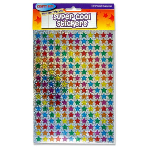 Crafty Bitz Super Cool Holographic Stickers - Small Stars