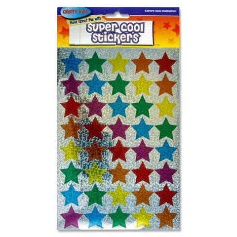 Crafty Bitz Super Cool Holographic Stickers - Star