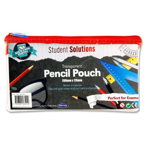Student Solutions Transparent Pencil Case