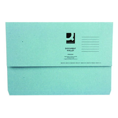 White Box Blue Document Wallet (Pack of 50)
