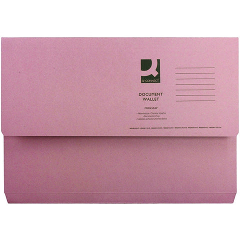 White Box Pink Document Wallet (Pack of 50)