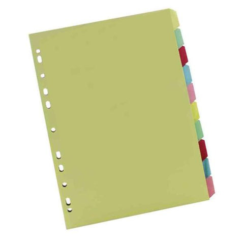 Multicoloured A4 10 Part Divider WX26082