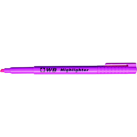 Whitebox Pink Highlighter Pens - (Pack of 10) WX93204