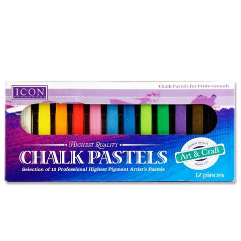 Icon Chalk Pastels Assorted 12 Pack
