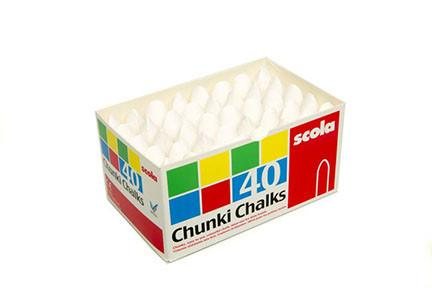 Chubbi Stump White Chalk Box of 40