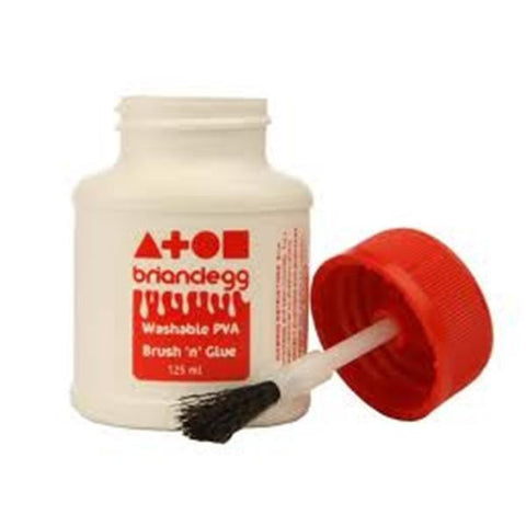 Washable PVA Glue - Brush and Glue 125ml