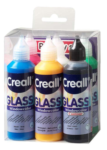 Creall Window Colour - Sticker Paint - Assorted Colours - Set of 6