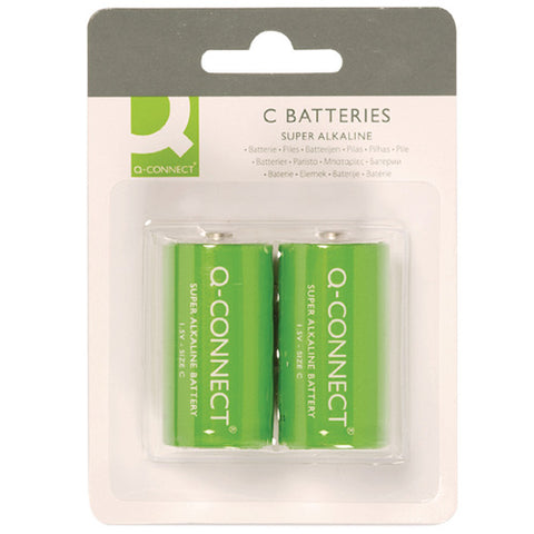 Q-Connect Size C Battery (2 Pack)