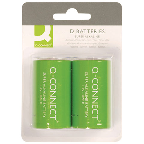 Q-Connect Size D Battery (2 Pack)