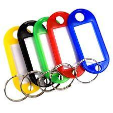 Key Fobs - Assorted Colours - Tub of 20