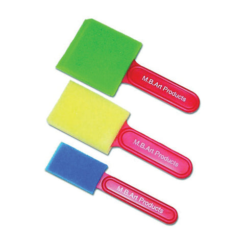 Foam Brushes Assorted Sizes Set of 3