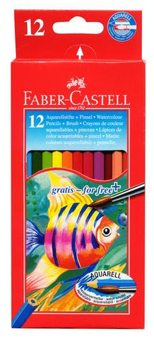 Faber-Castell Watercolour Pencils - Pack of 12