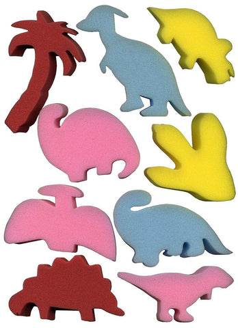 Foam Sponges - Dinosaur Shapes - Pack of 9