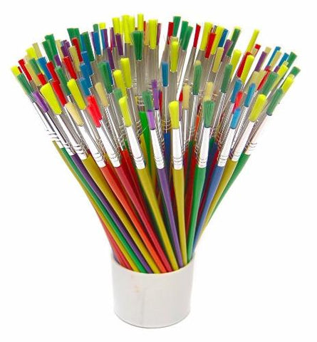Synthetic Brushes Assorted Colour Set of 144