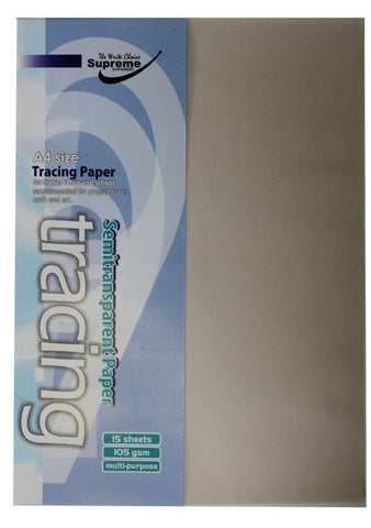 A4 Tracing Paper 15 Sheet 105gsm