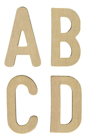 Upper Case Wooden Letters - Set of 26