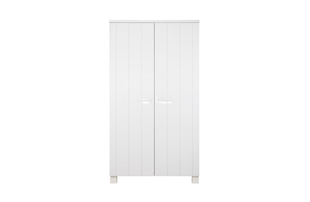 Robin Wardrobe White Brushed Pine