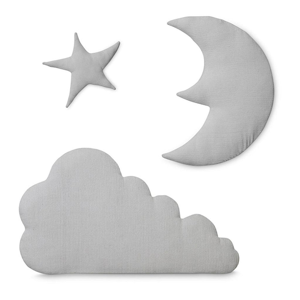 CamCam Wall Deco Fabric Moon, Star, Cloud