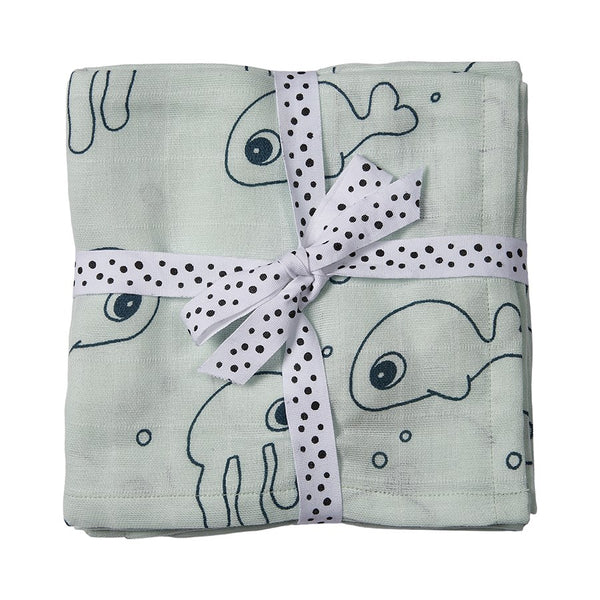Swaddle 2Pack Sea Friends