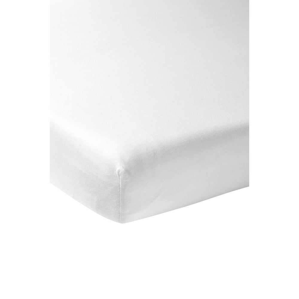Meyco Percale Cotton Fitted Sheet White
