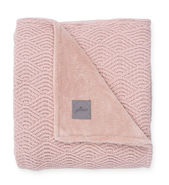 Jollein Blanket 75x100cm River Knit Coral Fleece