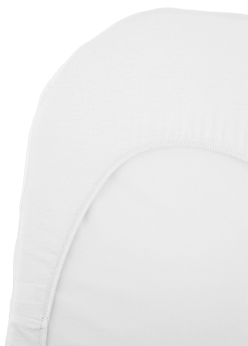 BabyBjorn Fitted Sheet for Cradle White Organic