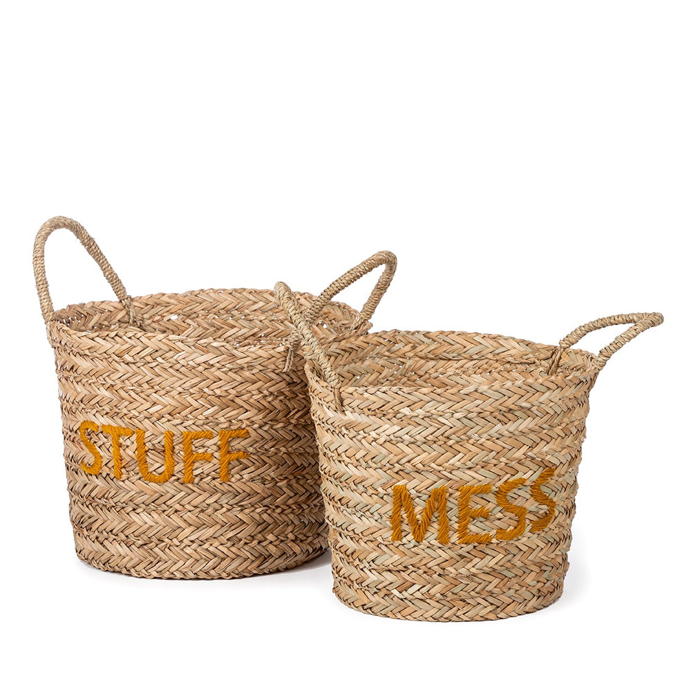 Basket Set of 2 Messy Stuff