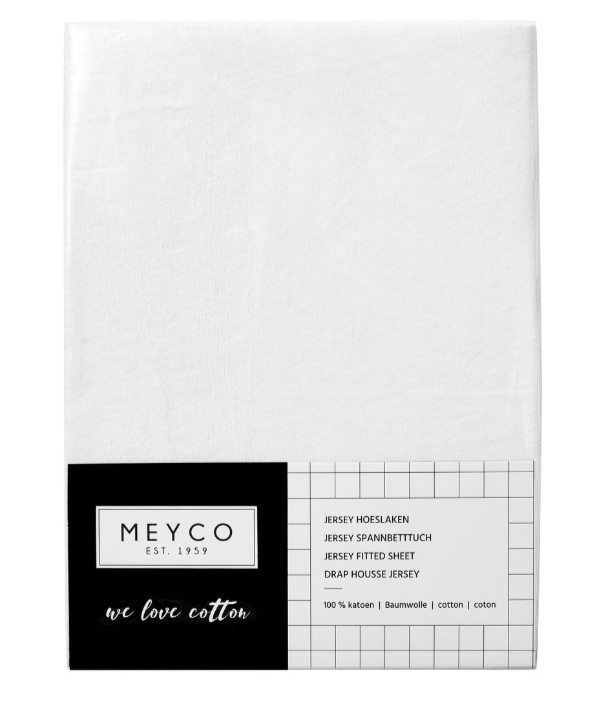 Meyco White Fitted Sheet  120x60