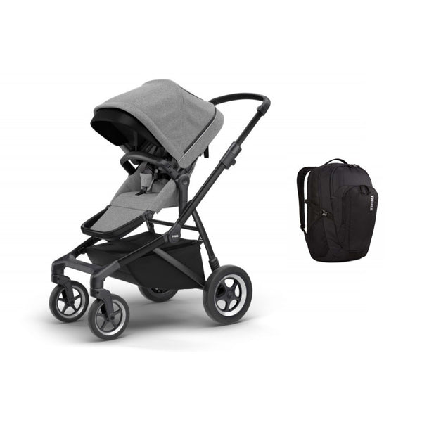 Thule Sleek City Stroller + Thule Narrator 31L Backpack