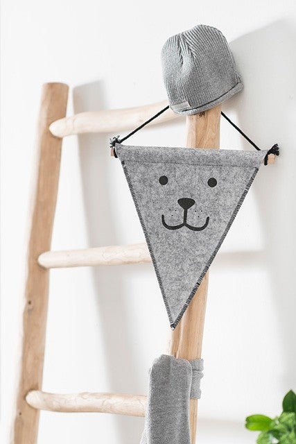 Jollein Flag Felt Bear