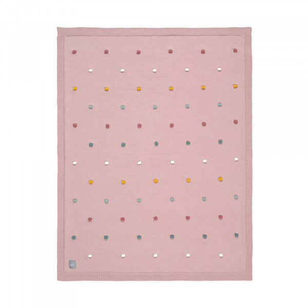 Lassig Knitted Blanket Dots 80x110cm