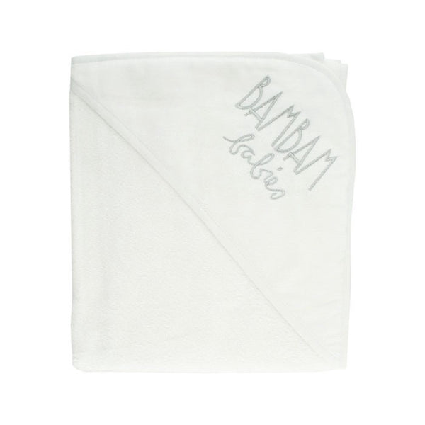 BamBam Hooded Towel White