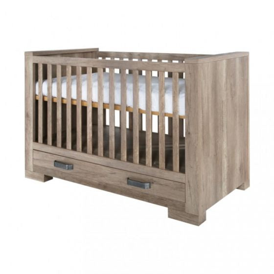 Lodge Grey Oak Cot-Bed 70x140 incl. 2 drawers