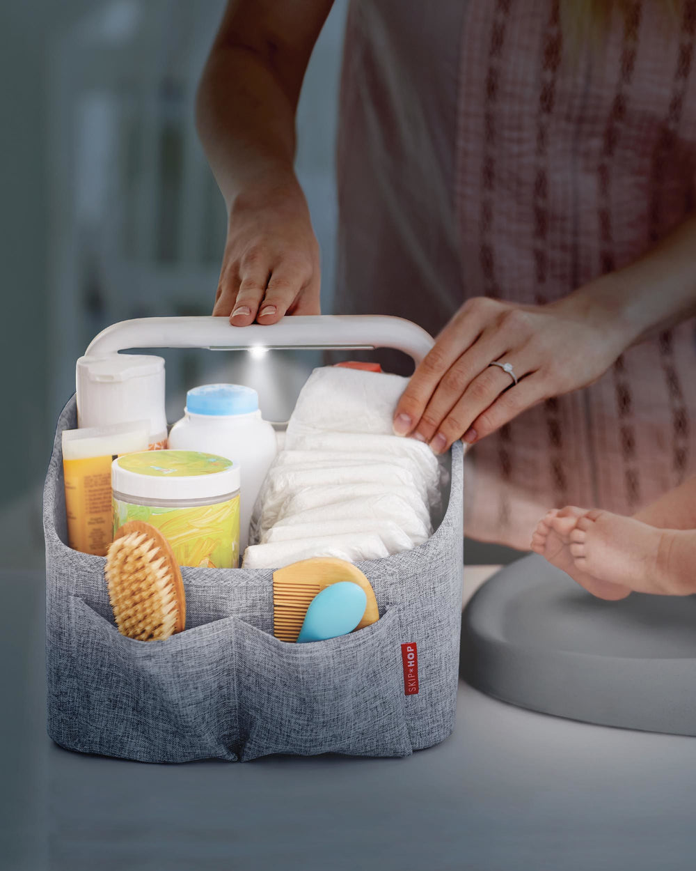 Light-Up Diaper Caddy