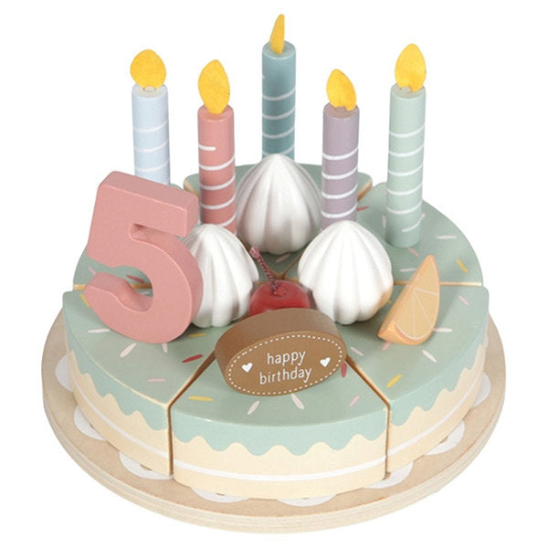 LD Toy Wood Birthday Cake