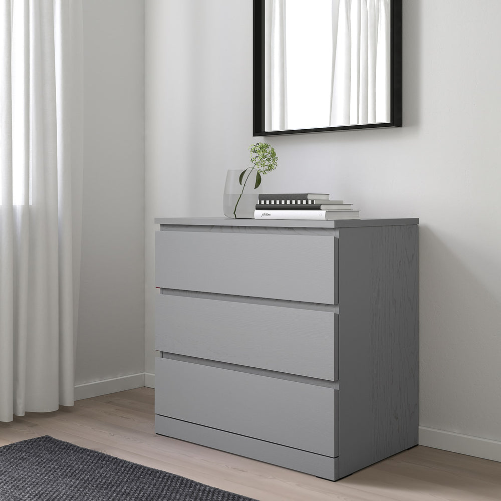 Malm Dresser 3 drawers Grey