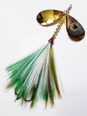 'J-Pikey' Double9 Squatch, Muskie/Pike Bucktail