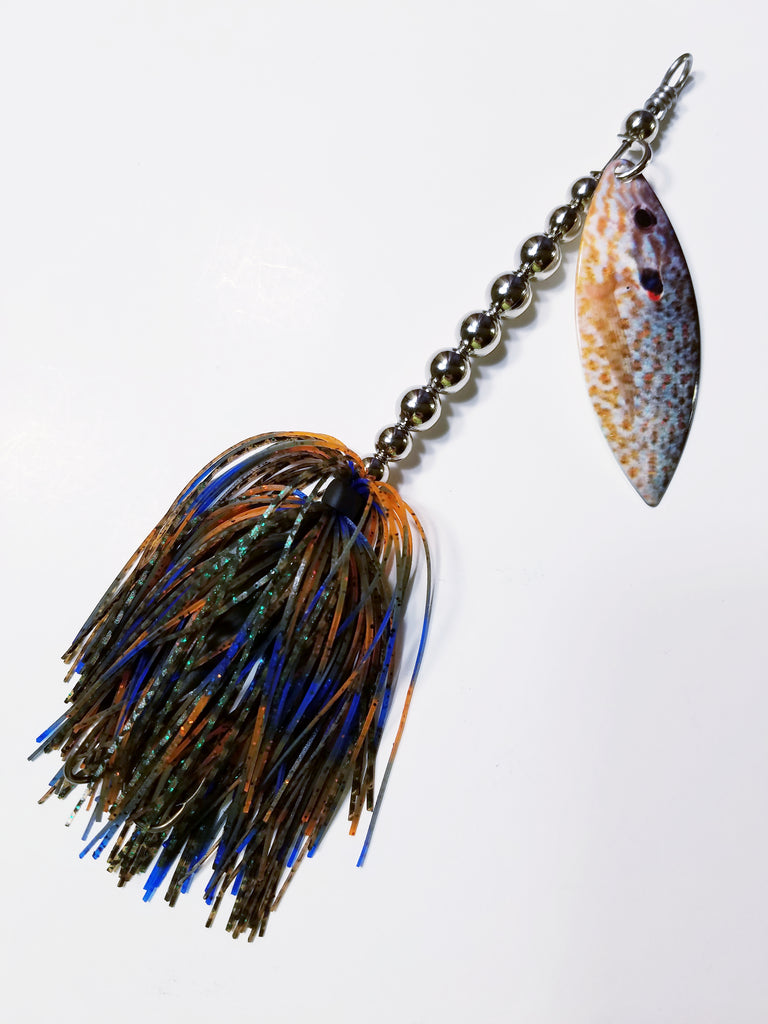 "Regular Printed Single Willow Blade Spinnerbait ""Bluegill"": Bass, Pike"
