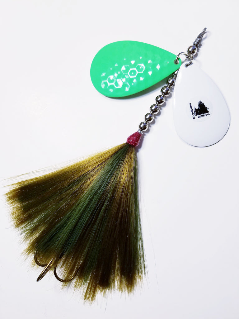 The Knocker, 10/9 stagger, Muskie/Pike Bucktail