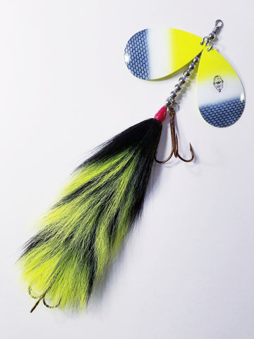 'The Beast' Double12 Squatch Bucktail, Muskie/Pike Bucktail
