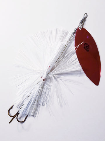 'Big Willy' Flashabou Single10 Willow, Muskie/Pike Bucktail