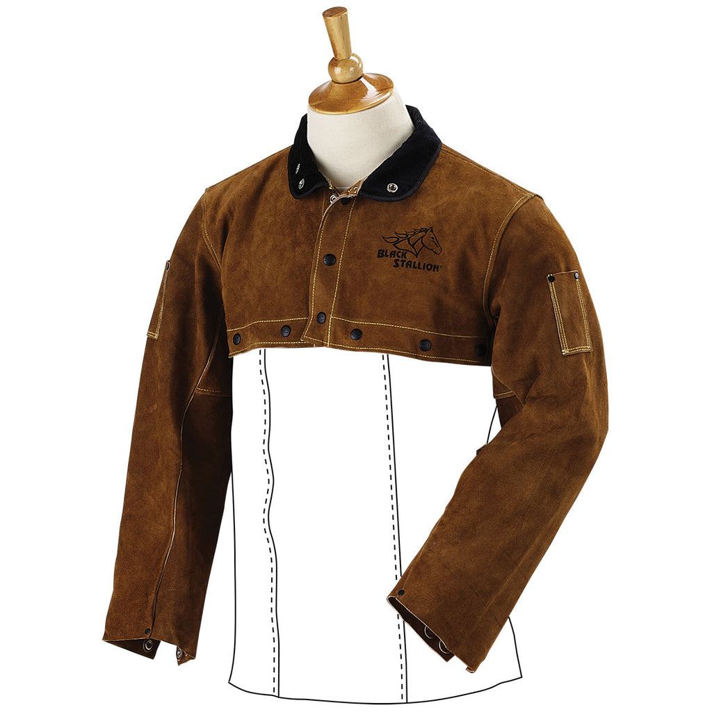 Revco Split Cowhide Cape Sleeves - 21CS-ShopWeldingSupplies.com