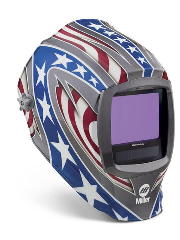 Miller Electric Digital Infinity™ Stars & Stripes™ Auto-Darkening (8-13 Shade) Welding Hood-ShopWeldingSupplies.com