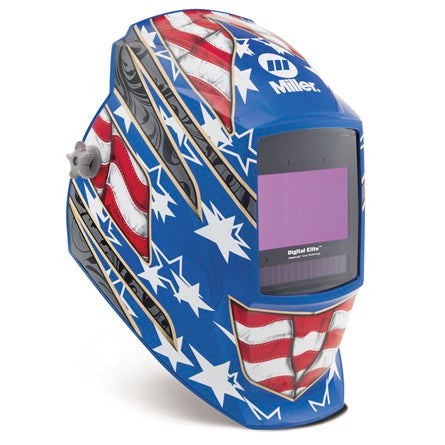 Miller Electric Digital Elite™ Stars & Stripes III™ Auto-Darkening (8-13 Shade) Welding Hood