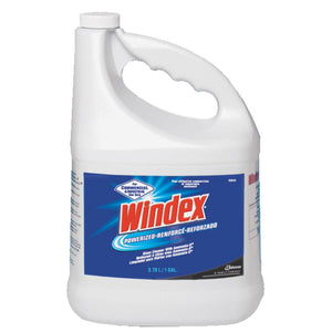Windex 1 Gallon Powerized Industrial Window Cleaner (1 case)-ShopWeldingSupplies.com