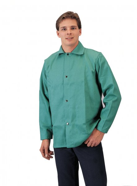 Tillman 6230 Green Flame Retardant Cotton Welding Jacket-ShopWeldingSupplies.com