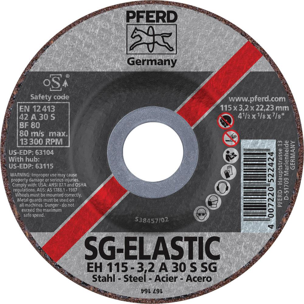 "Pferd 63104 SG Elastic 4-1/2""x1/8""x7/8"" Cut-Off Wheel-ShopWeldingSupplies.com"