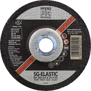 "Pferd 63107 SG Elastic 6""x1/8""x7/8"" Cut-Off Wheel-ShopWeldingSupplies.com"