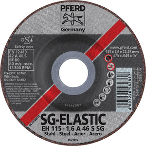 "Pferd 63162 SG Elastic 4-1/2""x.045""x7/8"" Cut-Off Wheel-ShopWeldingSupplies.com"