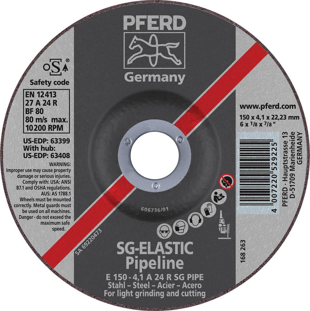 "Pferd 63399 SG Elastic Pipeline 6""x1/8""x7/8"" Cut-Off Wheel-ShopWeldingSupplies.com"
